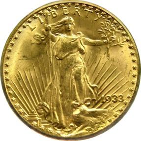 Double Eagle 1933 - Avers
