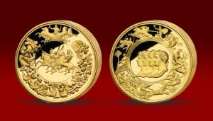Medaila vyrazená lešteným razidlom