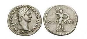 Denár cisára Domitiána