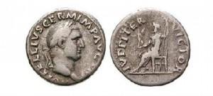 Denár cisára Vitellia