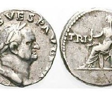 Denár cisára Vespasiana