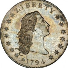 A Flowing Hair Silver Dollar 1794
